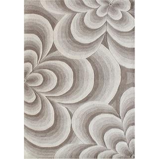 Alliyah Handmade Warm Sand New Zealand Blend Wool Rug (5x8)