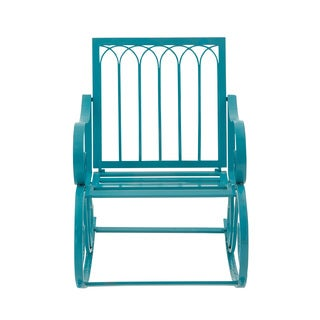 Outdoor Rocking Chair-Metal Blue