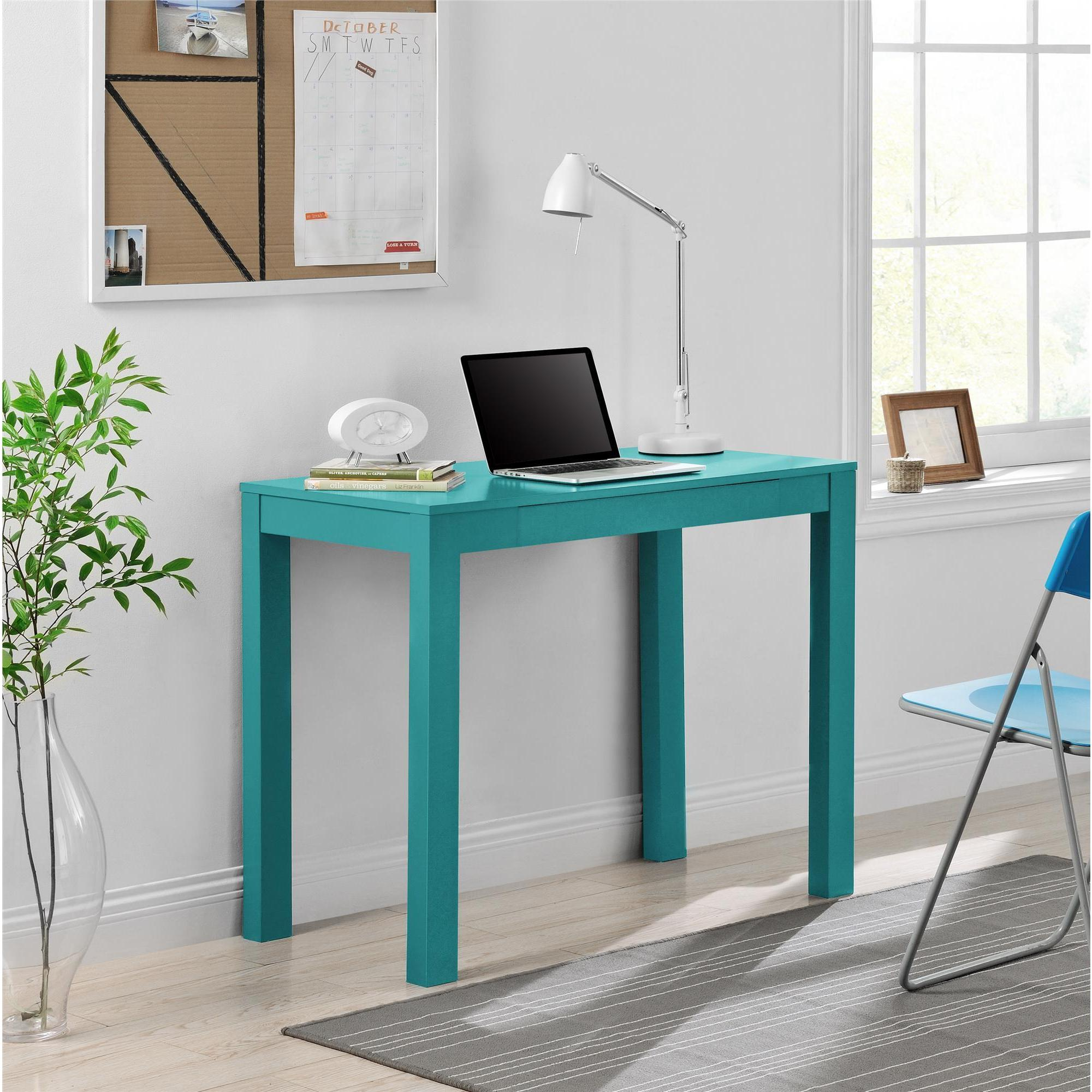 Altra Parsons Teal Desk with Drawer Overstock Shopping
