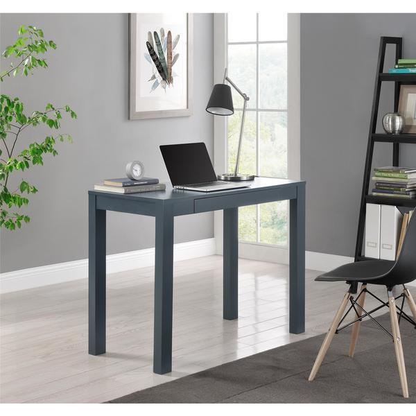 Altra Delilah Grey Parsons Single Drawer Desk 17357019
