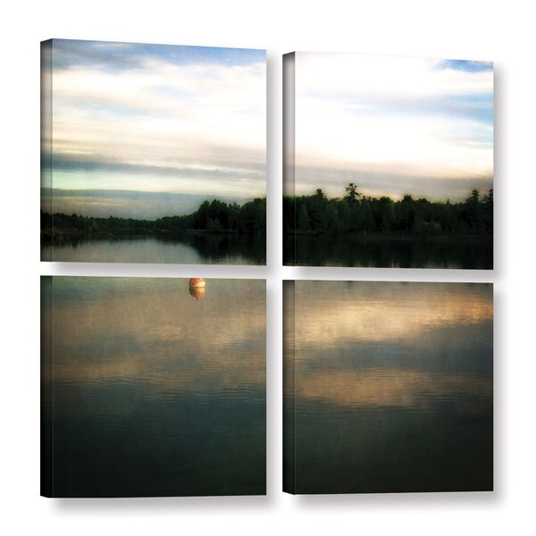 ArtWall Kevin Calkins ' Buoy On The Bayou 4 Piece ' Gallery-Wrapped Canvas Square Set