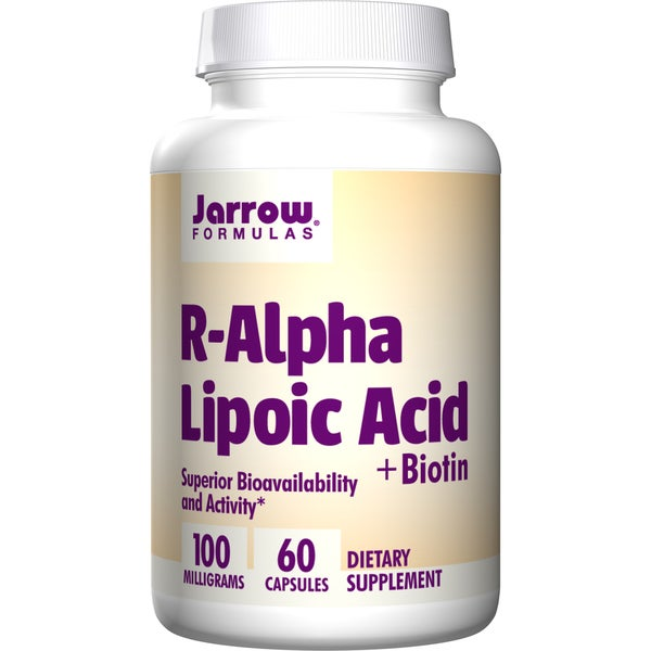 Jarrow Formulas R-Alpha Lipoic Acid with Biotin (60 Capsules)