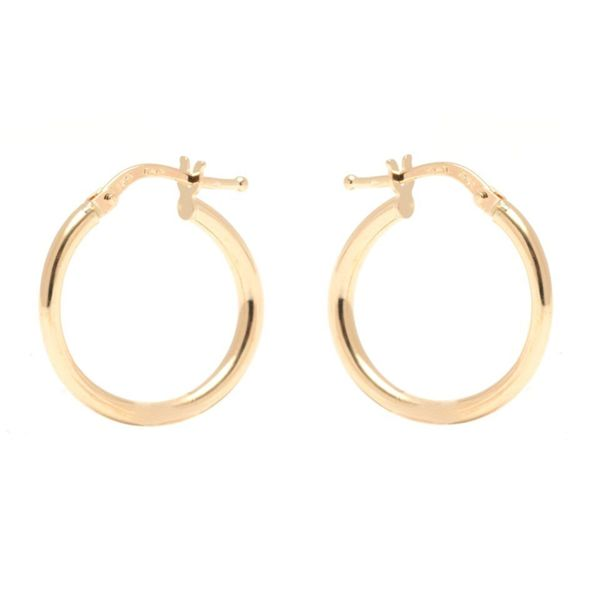 14k Yellow Gold 2.5 x 20mm Circle Hoop Earrings