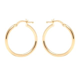 Pori 14k Yellow Gold 2 x 23mm Circle Hoop Earrings
