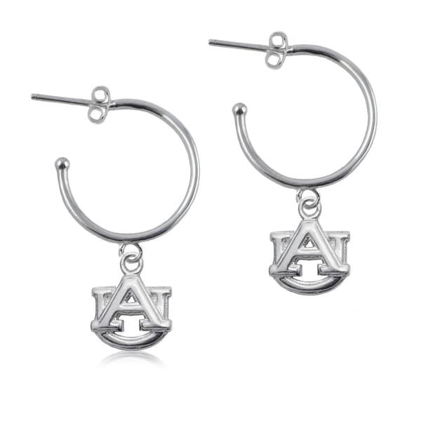 Auburn Sterling Silver Hoop Earrings