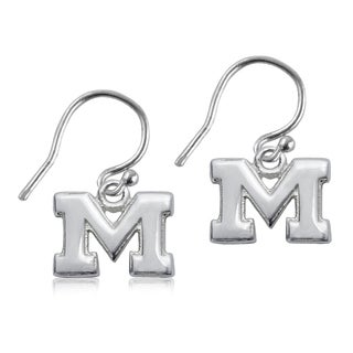 Michigan Sterling Silver Dangle Earrings
