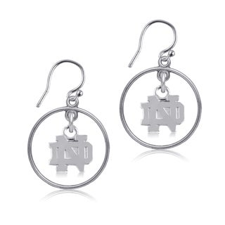 Notre Dame Sterling Silver Open Drop Earrings