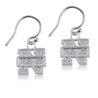 Navy Sterling Silver Dangle Earrings