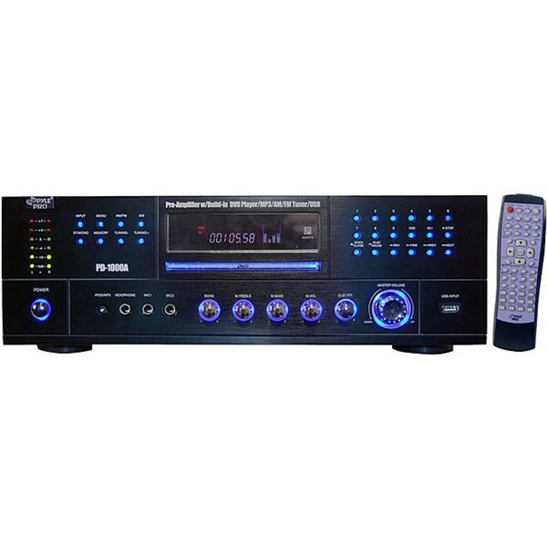 PylePro PD1000A Receiver with Built-in DVD/MP3/USB (As Is Item)