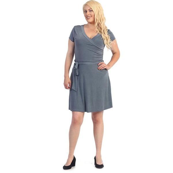 Women's Plus Size Dark Grey Flare Dress