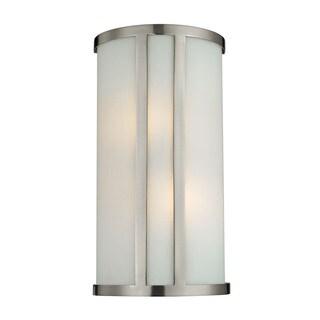 Cornerstone 7.5-inch Grey Brushed Nickel 2-light Wall Sconce