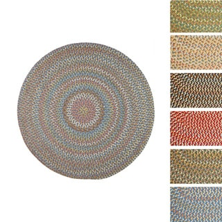 Cozy Cove Indoor/Outdoor Round Braided Rug (4' x 4') by Rhody Rug