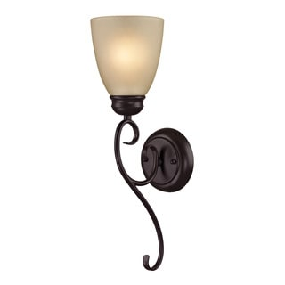 Cornerstone 5-inch Brown Oil Rubbed Bronze Chatham 1-light Sconce