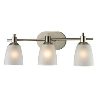 Cornerstone Silver Brushed Nickel Jackson 3-light Bath Bar