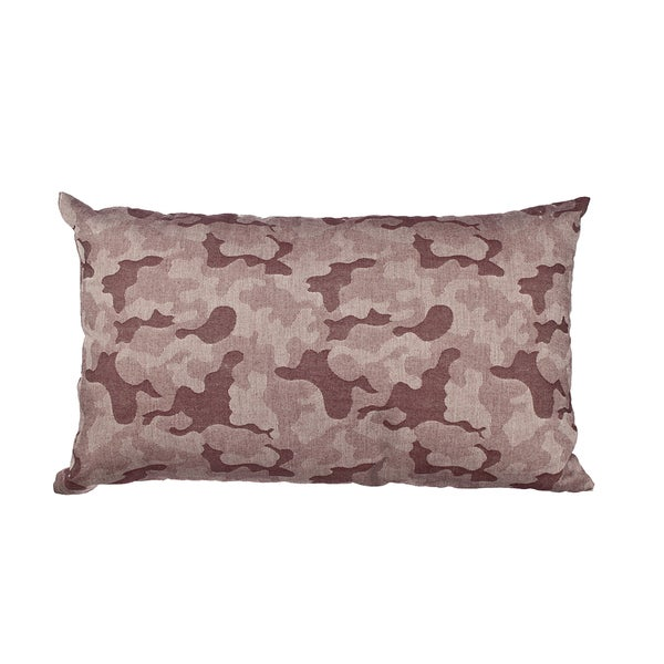 Red Camo Jacquard 20-inch Throw Pillow