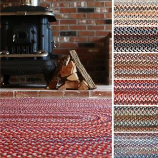 Augusta Oval Braided Wool Rug by Rhody Rug (2' x 3')