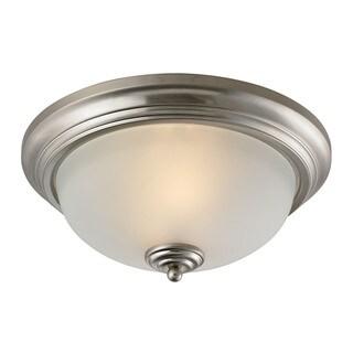 Cornerstone Brushed Nickel Huntington 2-light Ceiling Lamp