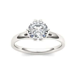 De Couer 14k White Gold 1 1/2ct TDW Diamond Exquisite Engagement Ring (H-I, I2)