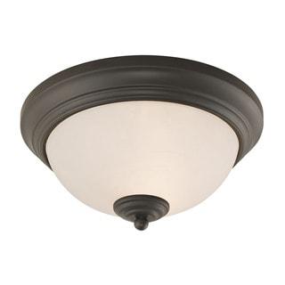 Cornerstone Oil Rubbed Bronze Huntington 2-light Ceiling Lamp