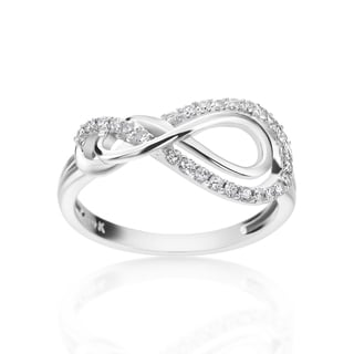 SummerRose 14k White Gold 1/4ct TDW Diamond Infinity Ring (H-I, SI1-SI2)