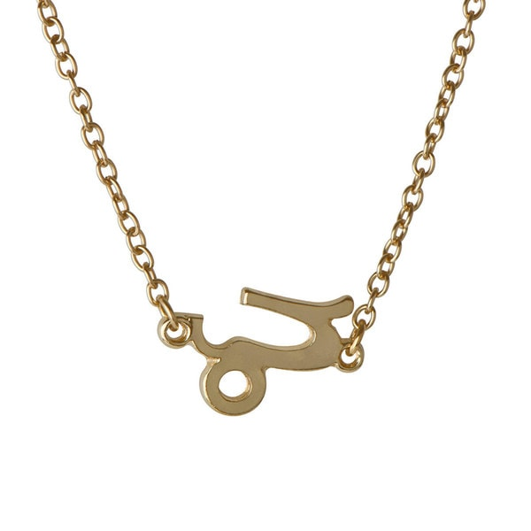 Zinc Alloy Goldtone Zodiac Charm Necklace
