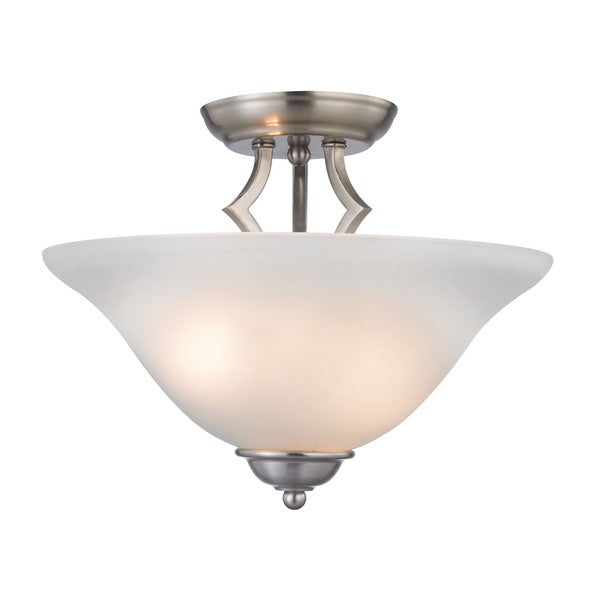 Cornerstone Brushed Nickel Kingston 2-light Semi-Flush