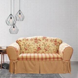 Sure Fit Lexington 1-piece T-cushion Loveseat Slipcover