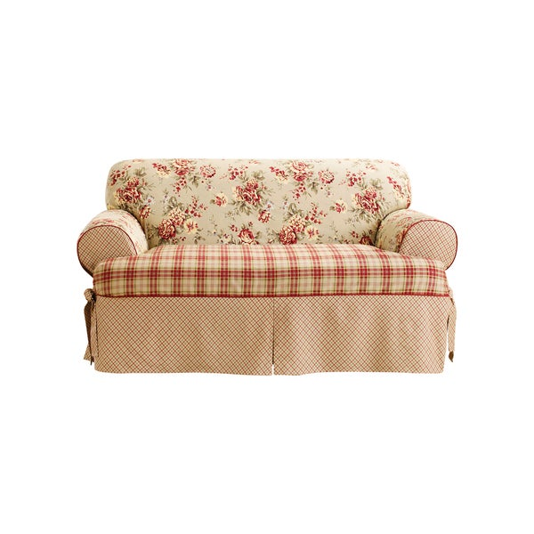 Sure Fit Lexington 1-piece T-cushion Loveseat Slipcover