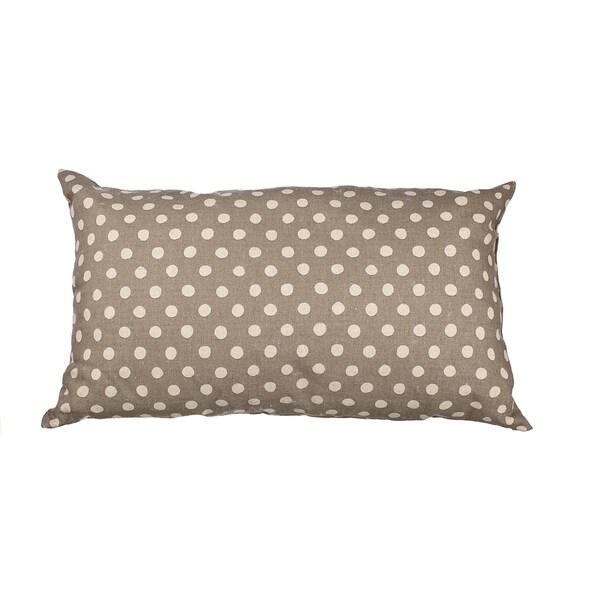 Grey Canvas Polka Dot 20-inch Throw Pillow