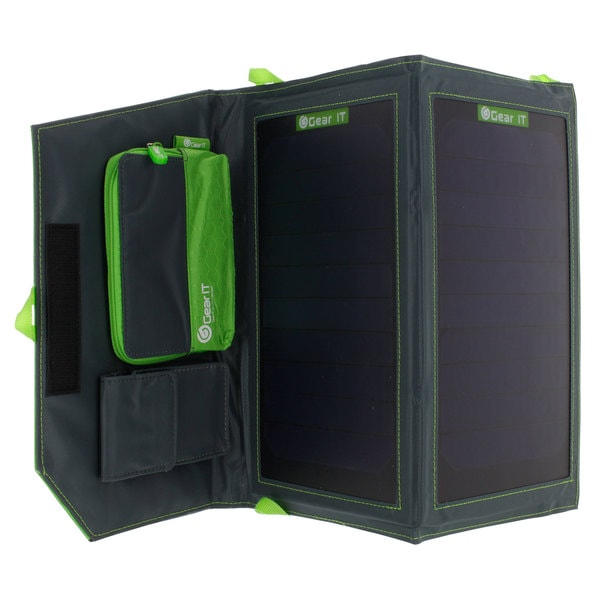 GearIt 11W Portable Power Foldable Outdoor Solar Panel Charger