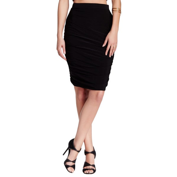 Von Ronen Women's Shirring Detail Jersey Fitted Skirt