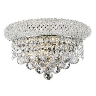 French Empire 2 Light Chrome Finish and Clear Crystal 12-inch Medium Wall Sconce