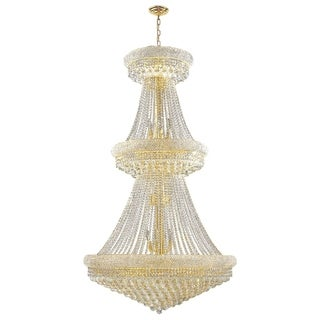 Majestic 32-light Gold Finish and Clear Crystal French Empire 2-tier Chandelier