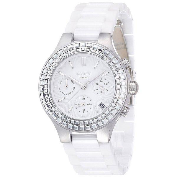 DKNY Women's NY2223 'Chambers' Chronograph White Ceramic Watch