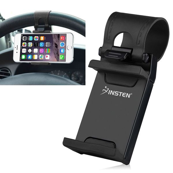 Insten Universal Car Steering Wheel Phone Holder for Apple iPhone 6/ 6+/ Samsung Galaxy S5/ S6/ HTC One M8/ M9