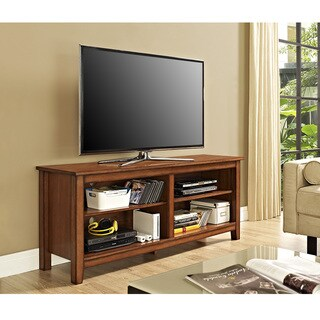 "58"" Essential Wood TV Stand - Rustic Brown"