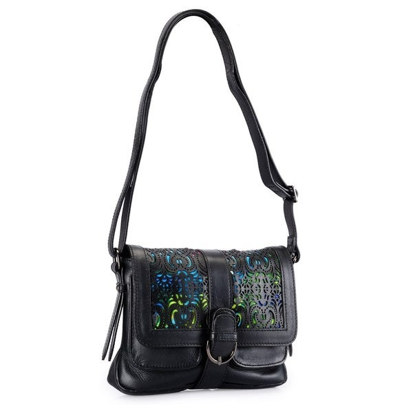 Phive Rivers Leather Multi Laser-cut Flap-over Crossbody Bag