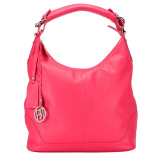 Phive Rivers Leather Red Hobo Bag (Italy)