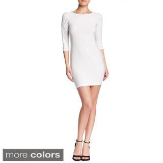 VON RONEN WOMEN'S ELBOW SLEEVE JERSEY KNIT FITTED DRESS (One Size Fits 0-12)