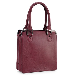 Phive Rivers Red Leather Zip-top Handbag (Italy)