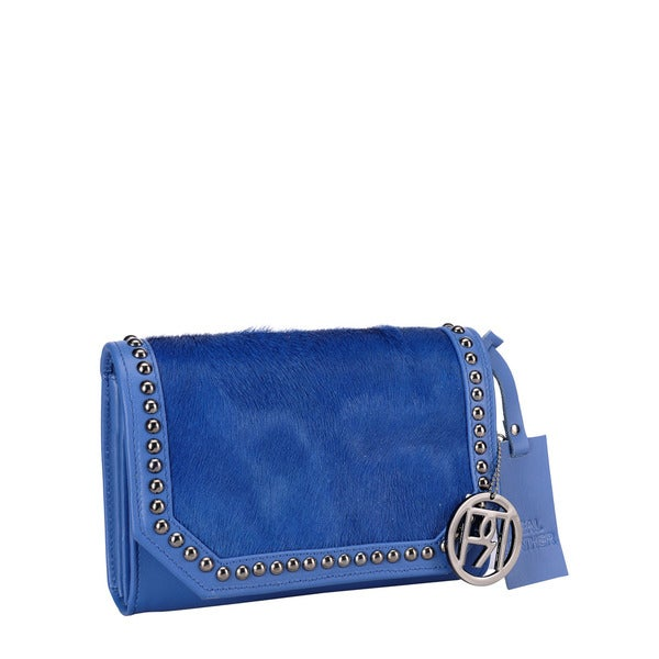 Phive Rivers Blue Pony Leather Handbag