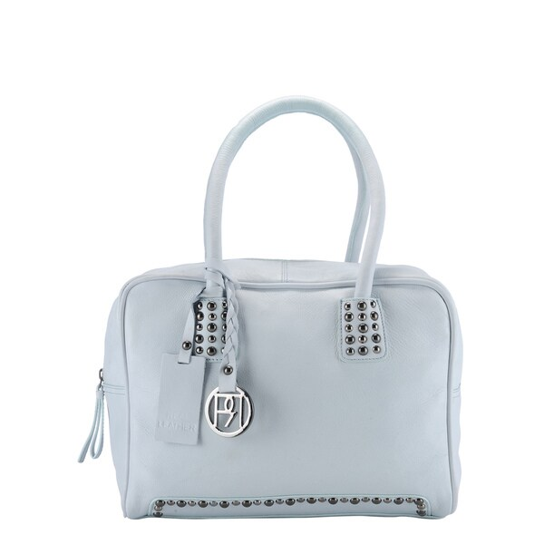 Phive Rivers Ice Blue Leather Handbag