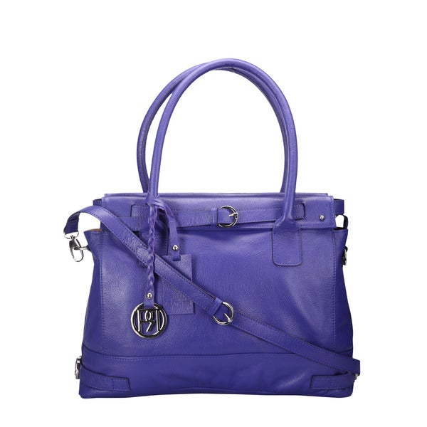 Phive Rivers Purple Leather Handbag
