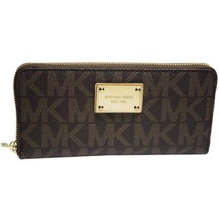 MICHAEL Michael Kors Jet Set MK Logo Zip Around Continental Wallet