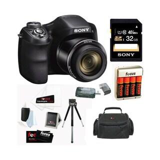 Sony Cyber-shot DSCH300B Digital Camera in Black + 32GB Accessory Kit