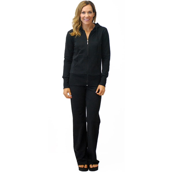 Black French Terry Jacket and Pant Set (As Is Item)