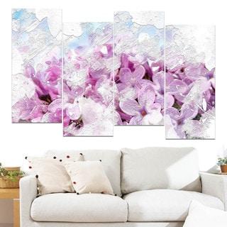 Design Art 'Flower Garden' Canvas Art Print