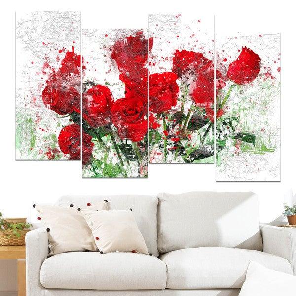Design Art 'Bed of Roses' Canvas Art