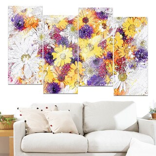 Design Art 'Pastel Color Flower Bed' Canvas Art Print