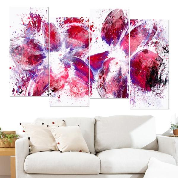 Design Art 'Abstract Tulips' Canvas Art Print 15587794